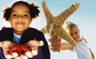Preschool starfish girl